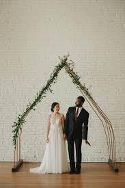 wedding arches rental toronto minimalist wedding at one eleven east minimalist arch