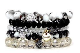 stackable bracelets erimish bracelet stack stackable bracelets bar new black