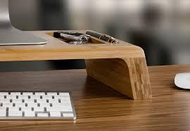 Bamboo Desk Organizer Bamboo Desktop Monitor Stand Riser Prosumer S Choice