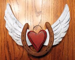 Angel Wings Home Decor by Horseshoe And Angel Wings Heart With A Carved Horseshoe I Have