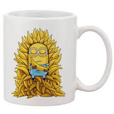 minion gmae of thrones white 11 oz printing ceramic coffee mug