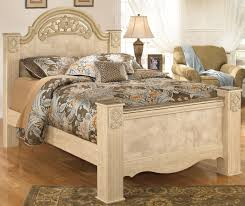 Poster Bed by Signature Design By Ashley Saveaha King Poster Bed With Ornate