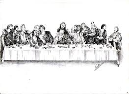 pen tattoo last pen and ink drawing of the last supper art ideas pinterest tattoo