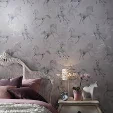 arthouse glitter detail kids girls bedroom wallpaper feature wall