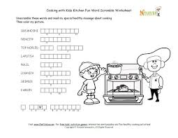 kitchen word word unscramble puzzle