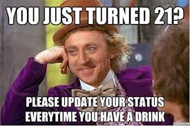21st Birthday Meme - happy 21st birthday quotes and memes with wishes