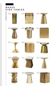 Brass Side Table The Best Brass Side Tables Of Every Style And Price Room For Tuesday