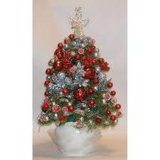 royal blue silver predecorated prelit mini tree