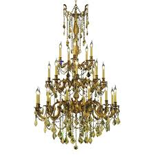 Crystal And Gold Chandelier Elegant Lighting 45 Light French Gold Chandelier With Clear