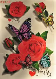 the 3 d flower and butterfly temporary 3 d
