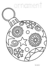 printable christmas ornament coloring free pdf download