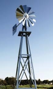 galvanized backyard windmill