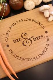 wedding cutting board personalized cutting board newlyweds christmas gift bridal shower