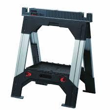 sawhorse folding adjustable workbench stanley tools