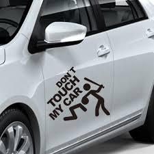 sticker designen und bestellen new design 22x19cm car sticker do not touch my car