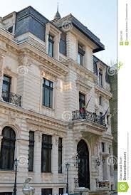 french baroque architecture in bucharest romania stock photo