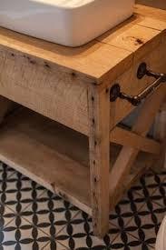 Wood Bathroom Vanity by Custom Made Reclaimed Barn Wood Bath Vanity With Marble Counter
