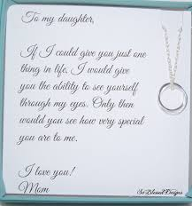 Mother Daughter Keepsakes Daughter Necklace To Daughter From Mom Double By Soblesseddesigns