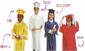 graduation gown and cap preschool cap and gown page caps gowns and academic regalia for