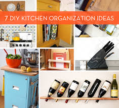 diy ideas for kitchen 7 diy kitchen organization ideas curbly