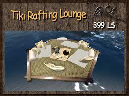 Tiki Outdoor Furniture by Second Life Marketplace Summer Feeling Tiki Floating Raft