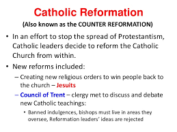 Council Of Trent Reforms Catholic Reformation
