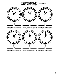file tell time clock mins 7 at coloring pages for kids boys dotcom