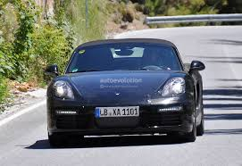 porsche boxster facelift porsche boxster facelift prototype spied turbo flat four engines