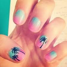 sunset palm tree nail nails pinterest palm tree nails tree