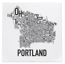 Atlanta Neighborhoods Map by Portland Neighborhoods Map The Hippest Poster Of Portland In The