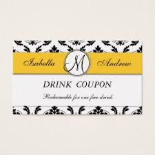 drink coupon business cards u0026 templates zazzle