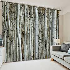 curtain birch tree curtains forest window curtains ready made