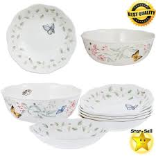 lenox dinnerware butterfly meadow pasta salad bowls 7 dinner