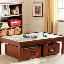Land Of Nod Coffee Table - kids espresso adjustable wooden activity table land of nod