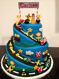super mario brothers mario kart gluten free birthday cake