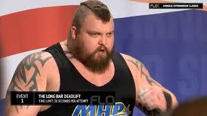 eddie hall 1025lbs 465kg deadlift world record 2016 arnold
