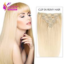 Boheme Hair Extensions by Aliexpress Com Buy Full Head Clip In Hair Extensions Blonde 613