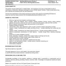 Maintence Resume Maintenance Resumes Maintenance Resume Template Free