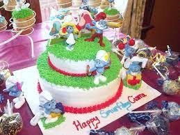 smurf cake and cupcakes cakecentral com