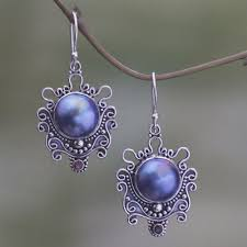 pearl dangle earrings sterling silver and pearl dangle earrings bandung