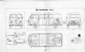 volkswagen bus drawing vw t1 bus type 23 1960 smcars net car blueprints forum