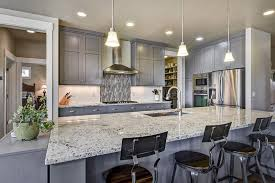 grey kitchen cabinets with granite countertops 57 luxury kitchen island designs pictures designing idea