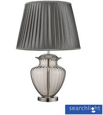 Urn Table Lamp Searchlight Large Urn Table Lamp Chrome With Smoked Glass