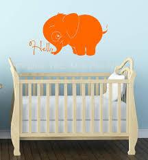 hello elephant nursery wall art decals vinyl stickers