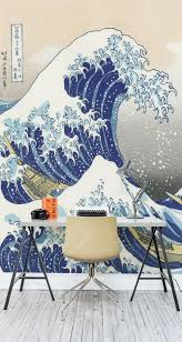 104 best inspirations for wall murals images on pinterest wall make waves with this art wallpaper mural ideal for the home office creating a