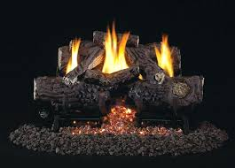 lennox gas fireplace log placement living room natural installation best logs glass images on cast iron