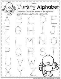 preschool thanksgiving activities letter tracing preschool