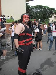 people dressed up as the wrestler kane