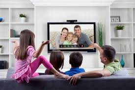 TelyHD Uses Tegra  And Android To Bring Skype Video Calling To - Family in living room