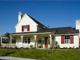 california style house ranch style house bold red shutters northern california home